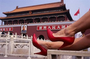 A Fashion Picture Show in CHINA; Pekin- Plaza Tian-A-Men