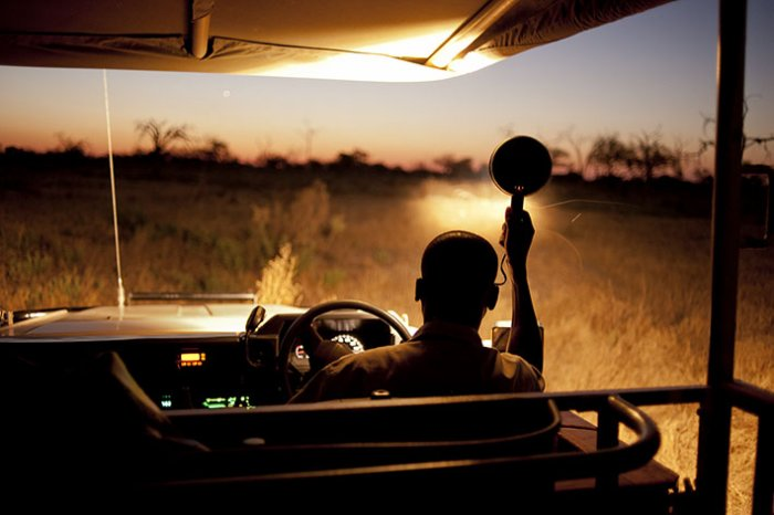 Okavango Delta - Moremi National Park - Night safari in Khwai River Camp