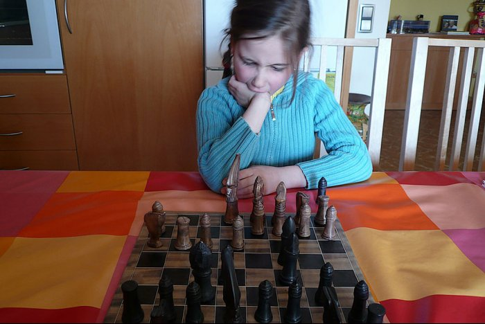Exciting chess game